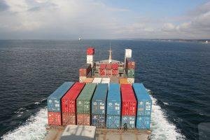 Seebestattungen Krautsand Containerschiff