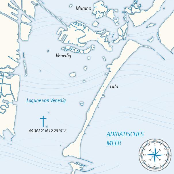 Seebestattungen Krautsand Seekarte Riffbestattung Venedig
